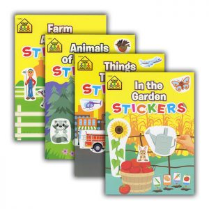 SCHOOL ZONE Sticker Books (48/pack)