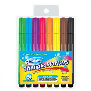 8 COLOR JUMBO TRIANGLE WASHABLE MARKERS