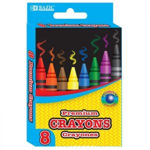 8 Color Premium Crayons (8/Pack)