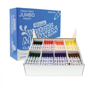 8 Color Broad Line Jumbo Washable Markers Classroom Pack (200 Ct)