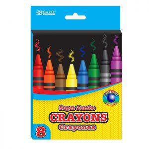 8 Color Premium Super Jumbo Crayons (8/Pack)