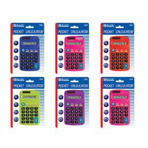 8-Digit Dual Power Pocket Size Calculator (24/pack)