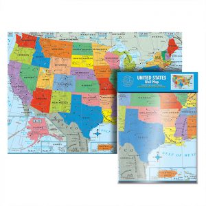Folded U.S. Wall Map (24/Pack)