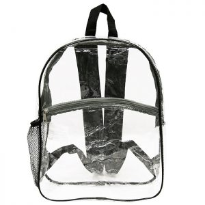 15″ Black All Clear Backpack