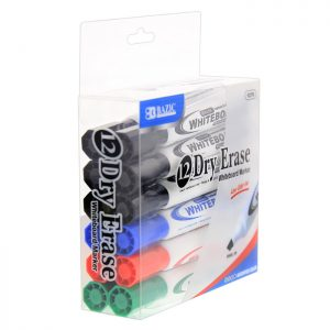 CHISEL TIP DRY-ERASE MARKERS ASSORTED COLOR (12/BOX)