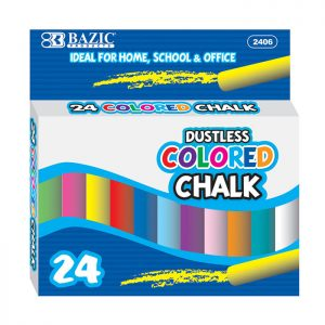 Dustless Assorted Color Chalk  (24/pack)