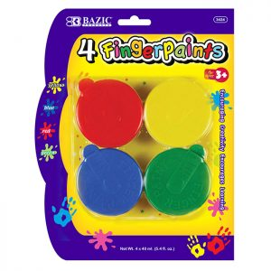 Finger Paint Assorted Color 40ml (4/Pack)