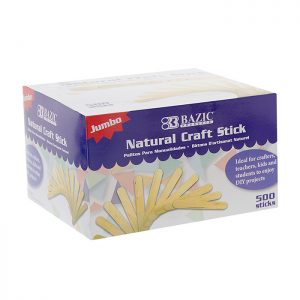 Jumbo Natural Craft Stick (500/pack)