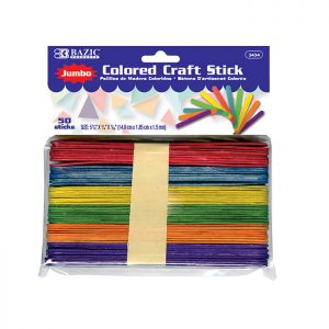Jumbo Colored Craft Stick (50/Pack)