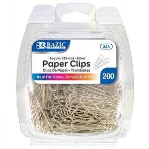 Regular Silver Paper Clips  (200/Pack)