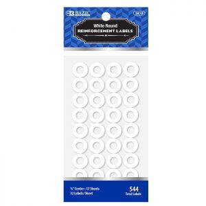 Round Reinforcement Label White (544/Pack)