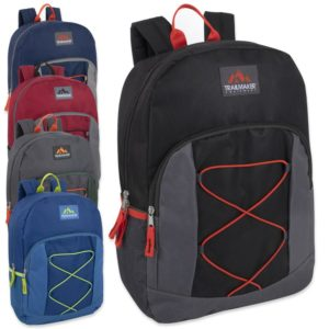 Trailmaker 17 Inch Bungee Backpack With Side Pocket – 5 Colors