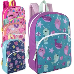 Wholesale 15 Inch Character Backpacks – Girls Assortment