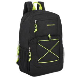 Wholesale Urban Sport 18 Inch Deluxe Bungee Backpack – Black
